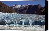 Ice Age Canvas Prints - Blue Ice Along Glacier Front, Leconte Canvas Print by Ralph Lee Hopkins
