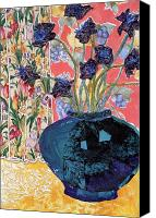 Diane Fine Canvas Prints - Blue in Blue Canvas Print by Diane Fine