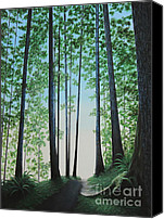 Overcast Painting Canvas Prints - Blue In Green Canvas Print by Dan Lockaby