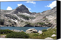 Continental Divide Canvas Prints - Blue Lake Canvas Print by Eric Glaser