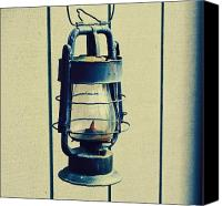 Northwest Art Photo Canvas Prints - Blue Lantern out back Canvas Print by Cathie Tyler