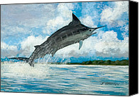 John Brown Canvas Prints - Blue Marlin Canvas Print by John Brown