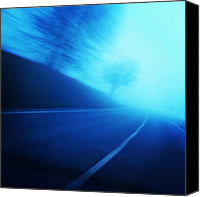 Street Canvas Prints - Blue Monday Canvas Print by Matthias Hauser