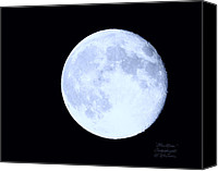 Moonscape Canvas Prints - Blue Moon August 2012 Canvas Print by Cindy Wright