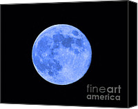 Selective Color Canvas Prints - Blue Moon Close Up Canvas Print by Al Powell Photography USA
