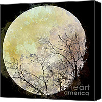 Arne J Hansen Canvas Prints - Blue Moon Rising Canvas Print by Arne Hansen