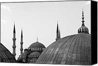 Turkey Photo Canvas Prints - Blue Mosque, Istanbul Canvas Print by Dave Lansley