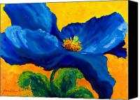 Autumn Canvas Prints - Blue Poppy Canvas Print by Mmarion Rose