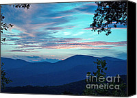 Diane Hewitt Canvas Prints - Blue Ridge Blue Skies Canvas Print by Diane Hewitt