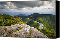 Craggy Canvas Prints - Blue Ridge Parkway - Asheville NC Craggy Gardens Overlook Canvas Print by Dave Allen
