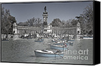 Retiro Canvas Prints - Blue Rowboats Canvas Print by Joan Carroll