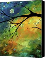 Lime Painting Canvas Prints - Blue Sapphire 2 by MADART Canvas Print by Megan Duncanson