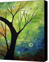 Lime Painting Canvas Prints - Blue Sapphire 3 by MADART Canvas Print by Megan Duncanson