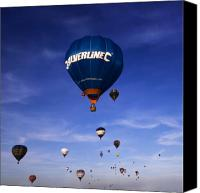 Balloon Fiesta Canvas Prints - Blue Skies Canvas Print by Angel  Tarantella