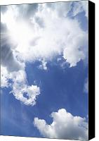 Sunny Canvas Prints - Blue Sky And Cloud Canvas Print by Setsiri Silapasuwanchai