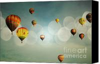 Balloon Fiesta Canvas Prints - Blue Sky Balloon Light Canvas Print by Andrea Hazel Ihlefeld