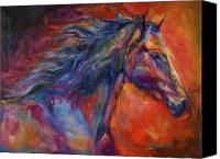 Williams Painting Canvas Prints - Blue Spirit Canvas Print by Diane Williams