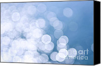 Shiny Photo Canvas Prints - Blue water and sunshine abstract Canvas Print by Elena Elisseeva