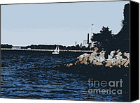 Patrick Mills Canvas Prints - Blue Water Canvas Print by Patrick Mills