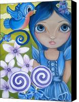 Jasmine Painting Canvas Prints - Blueberry Canvas Print by Jaz Higgins