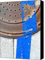 Casa Grande Canvas Prints - Bluer Sewer One Canvas Print by Marlene Burns