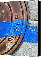 Casa Grande Canvas Prints - Bluer Sewer Three Canvas Print by Marlene Burns