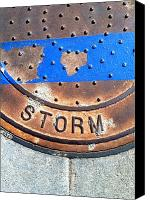 Casa Grande. Canvas Prints - Bluer Sewer Two Canvas Print by Marlene Burns