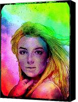 Britney Spears Canvas Prints - Blur 2 Canvas Print by Luke Ives