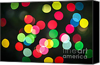 Xmas Photo Canvas Prints - Blurred Christmas lights Canvas Print by Elena Elisseeva