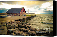 Door County Canvas Prints - Blustery Day At Anderson Barn Canvas Print by Shutter Happens Photography