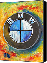 Contemporary Mixed Media Canvas Prints - BMW - The Ultimate Driving Machine Canvas Print by Dan Haraga