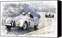 Roadster Canvas Prints - BMW 328 Roadster Canvas Print by Yuriy  Shevchuk