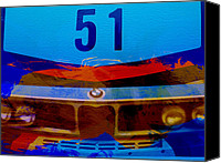 Racing Car Canvas Prints - BMW Racing colors Canvas Print by Irina  March