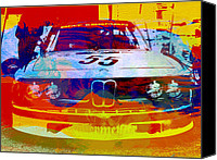 Photography Digital Art Canvas Prints - BMW Racing Canvas Print by Irina  March