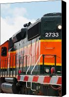 Santa Fe Digital Art Canvas Prints - Bnsf 2733 Canvas Print by Noel Zia Lee
