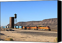Santa Fe Canvas Prints - BNSF 5050 Yucca AZ Canvas Print by Troy Montemayor