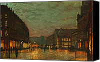 Oil Lamp Painting Canvas Prints - Boar Lane Leeds Canvas Print by Stefan Kuhn