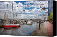 Yachts Canvas Prints - Boat - Baltimore MD - One fine day in Baltimore  Canvas Print by Mike Savad