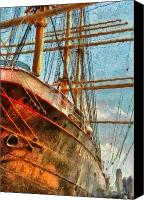 South Street Seaport Canvas Prints - Boat - NY - South Street Seaport - Peking Canvas Print by Mike Savad