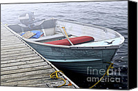 Motor Boats Canvas Prints - Boat in a fog Canvas Print by Elena Elisseeva
