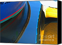 Solitude Canvas Prints - Boat Reflection Canvas Print by Juergen Roth