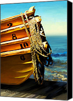 Simulation Canvas Prints - Boat Ropes Canvas Print by Suni Roveto