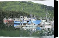 Kodiak Canvas Prints - Boat Canvas Print by Shawn Townzen