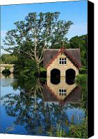 Boathouse Canvas Prints - Boathouse Canvas Print by Joe Burns