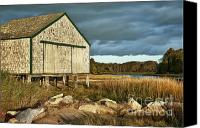 Sheds Canvas Prints - Boathouse Canvas Print by John Greim