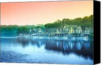 Boathouse Row Canvas Prints - Boathouse Row Canvas Print by Bill Cannon