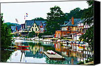 Boathouse Row Canvas Prints - Boathouse Row in Philly Canvas Print by Bill Cannon