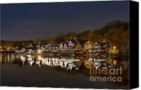 Rowing Canvas Prints - Boathouse Row Canvas Print by John Greim