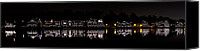 Winter Canvas Prints - Boathouse Row panorama - Philadelphia Canvas Print by Brendan Reals