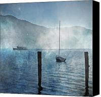 Mysterious Canvas Prints - Boats In The Fog Canvas Print by Joana Kruse